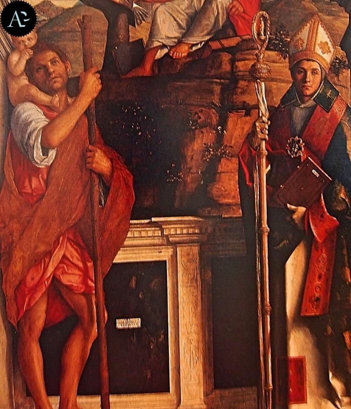 Giovanni Bellini | Pala con i Santi Cristoforo Girolamo e Ludovico