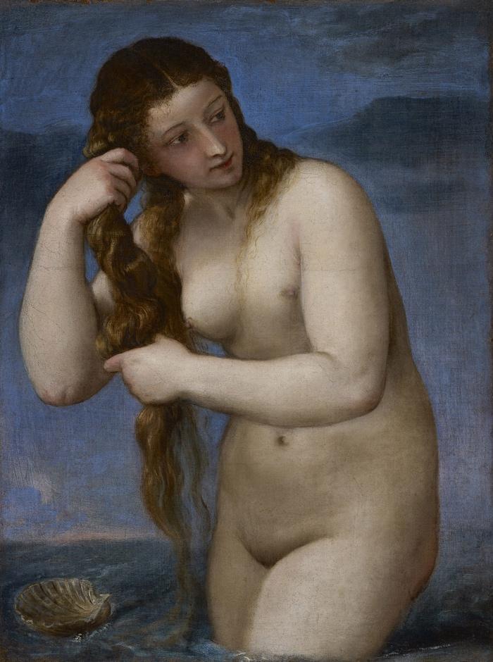 Tiziano Vecellio | Venere che sorge dal mare
