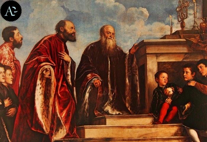 Tiziano Vecellio | Ritratto votivo della famiglia Vendramin
