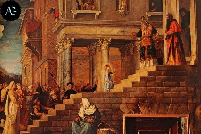 Tiziano Vecellio | Presentazione di Maria al tempio