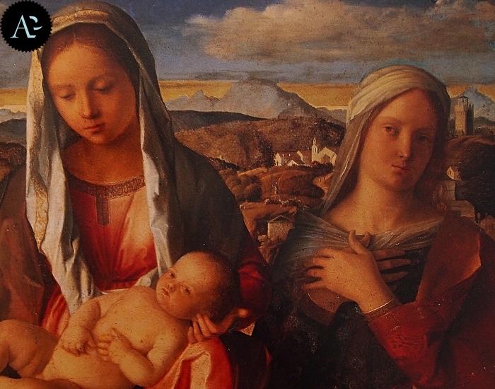 Giovanni Bellini | Madonna con Bambino tra San Giovanni Battista e santa
