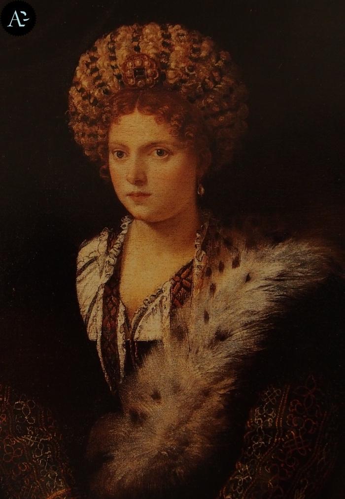 Tiziano Vecellio | Ritratto d'Isabella d'Este