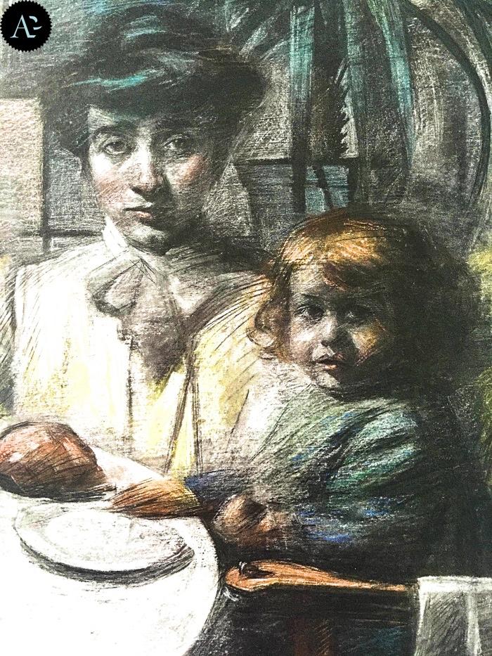 Bocconi | moglie di Balla con la figlia