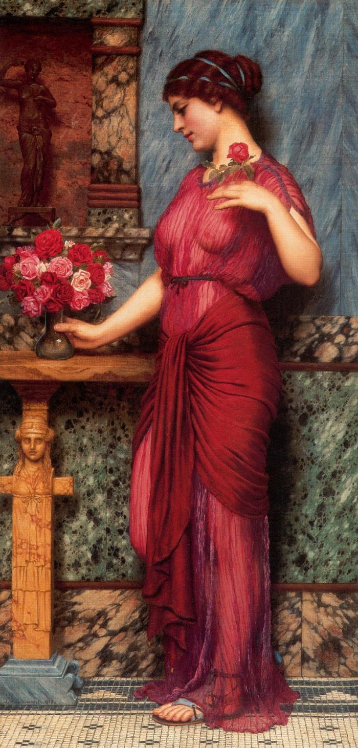 John William Godward | An Offering to Venus
