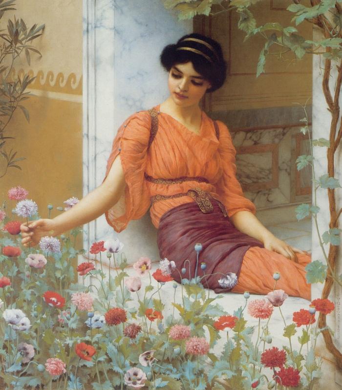 John William Godward | Summer Flowers