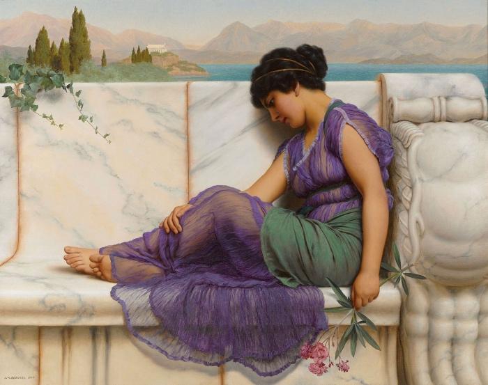 John William Godward | Summer Idleness Day Dreams