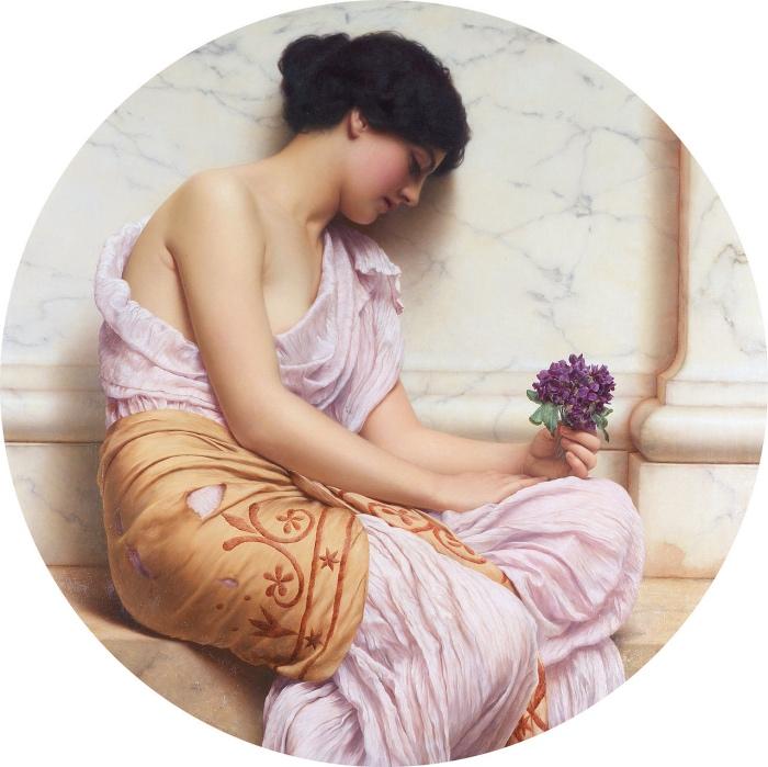 John William Godward | Violets