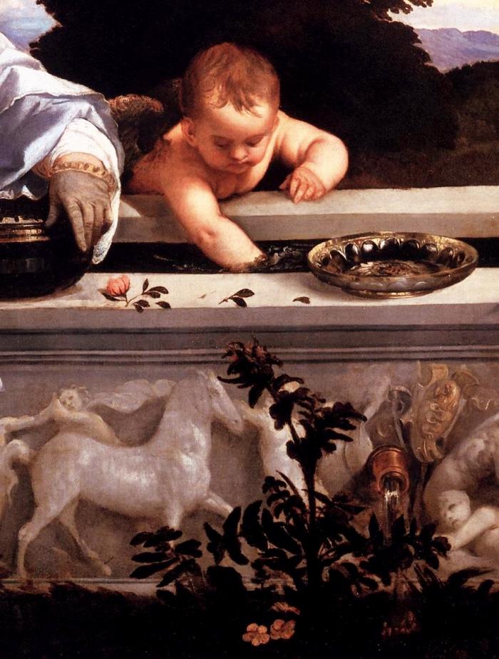 Galleria Borghese | amor sacro e amor profano dettaglio