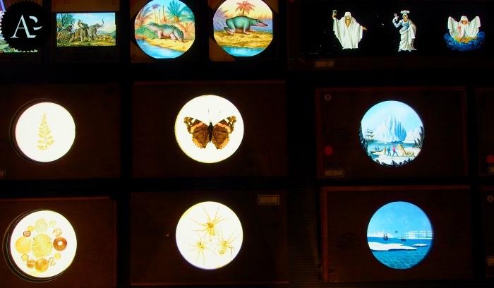 museo precinema | vetri colorati