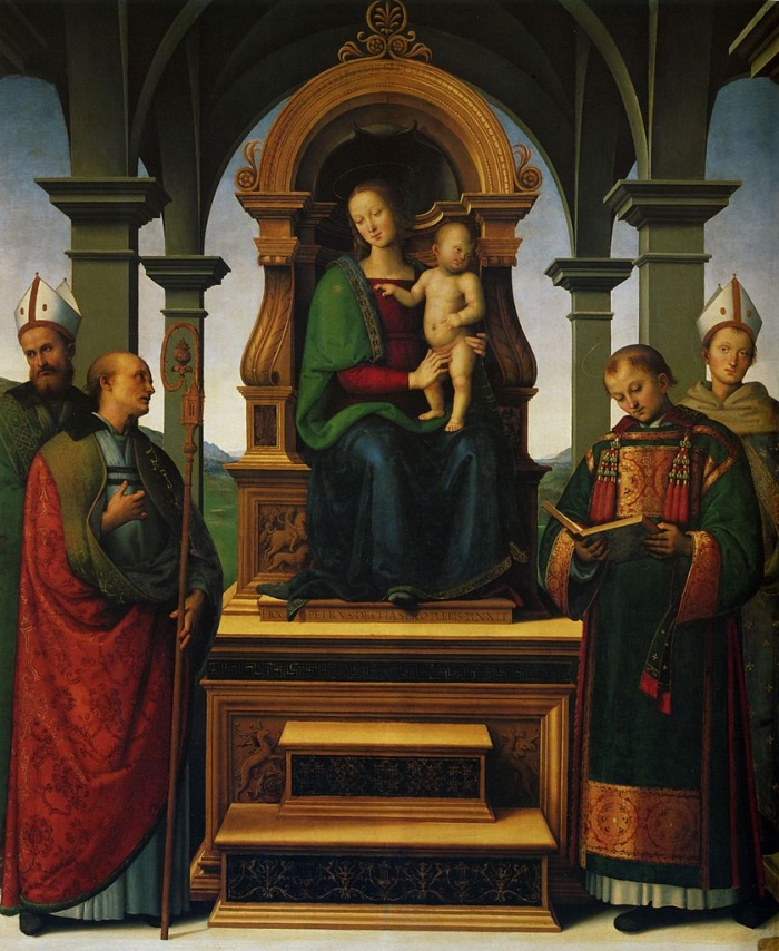 Perugino | Madonna col Bambino e santi