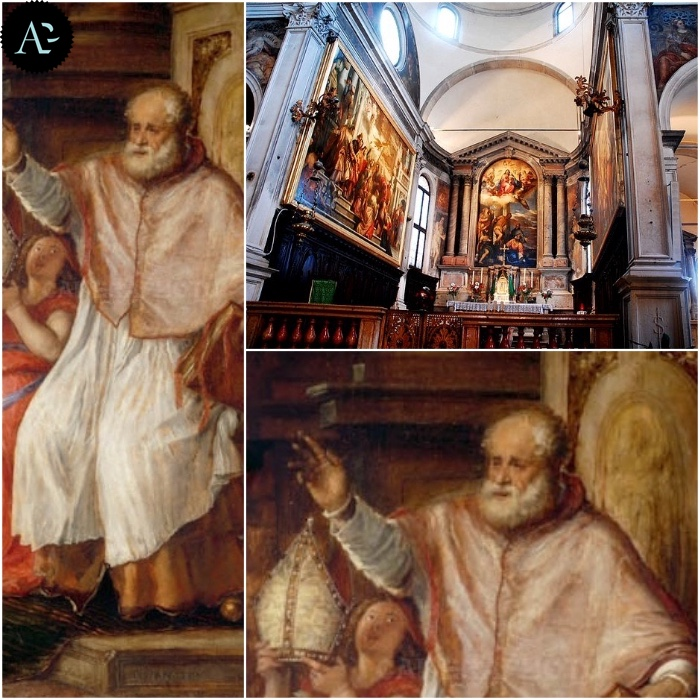 Tiziano a Venezia - San Niccolò (1563 circa) - Chiesa di San Sebastiano (Venezia) - dettagli