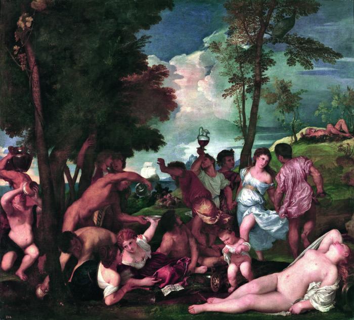 Tiziano Vecellio | Il baccanale degli Andrii