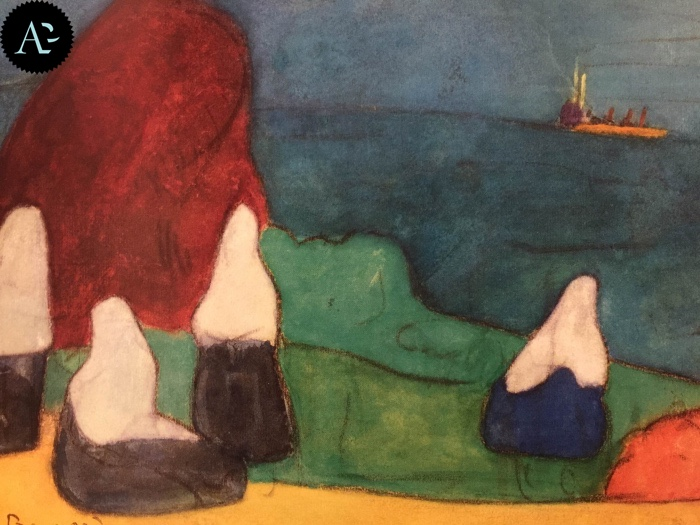 Emile Bernard | Donne bretoni sulla spiaggia