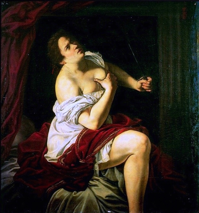 Artemisia Gentileschi | Lucrezia