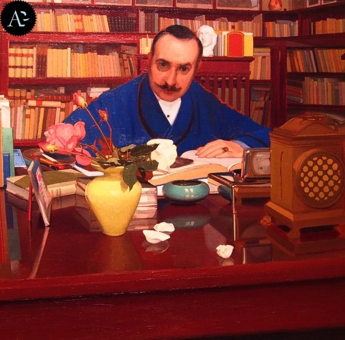 Oscar Ghiglia | Ugo Ojetti nello studio