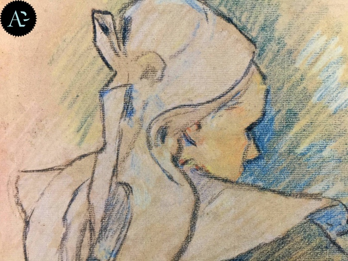 Paul Gauguin | donna bretone vista di schiena