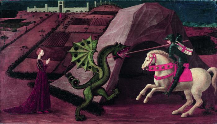Paolo Uccello, San Giorgio e il drago, c. 1458-60. Parigi, Musée Jacquemart-André. Image source: http://www.studioesseci.net