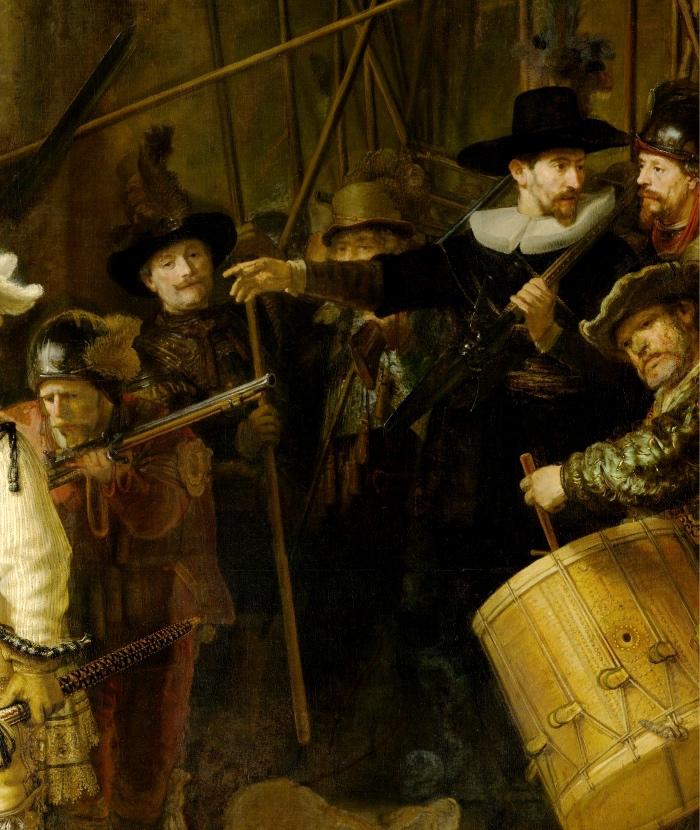 Rembrandt | La Ronda di Notte | dettaglio