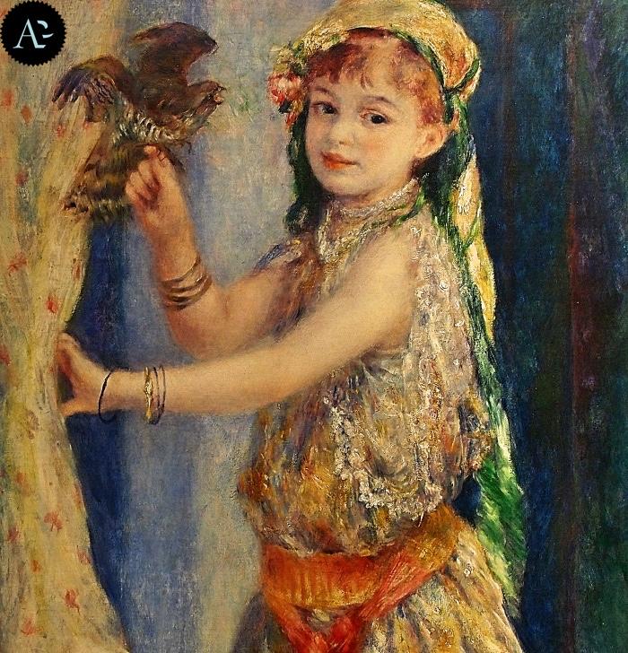 Renoir | bambina con uccellino