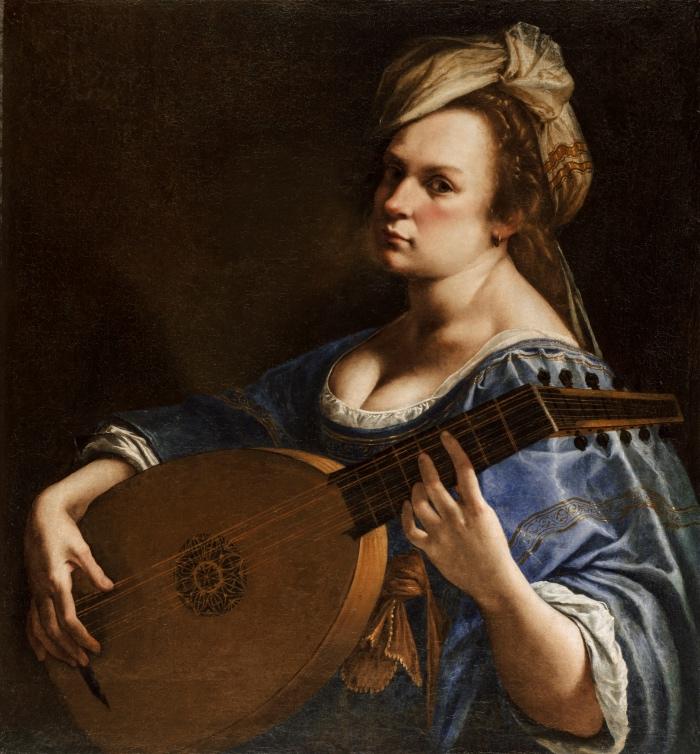 Artemisia Gentileschi | Autoritratto come suonatrice di liuto