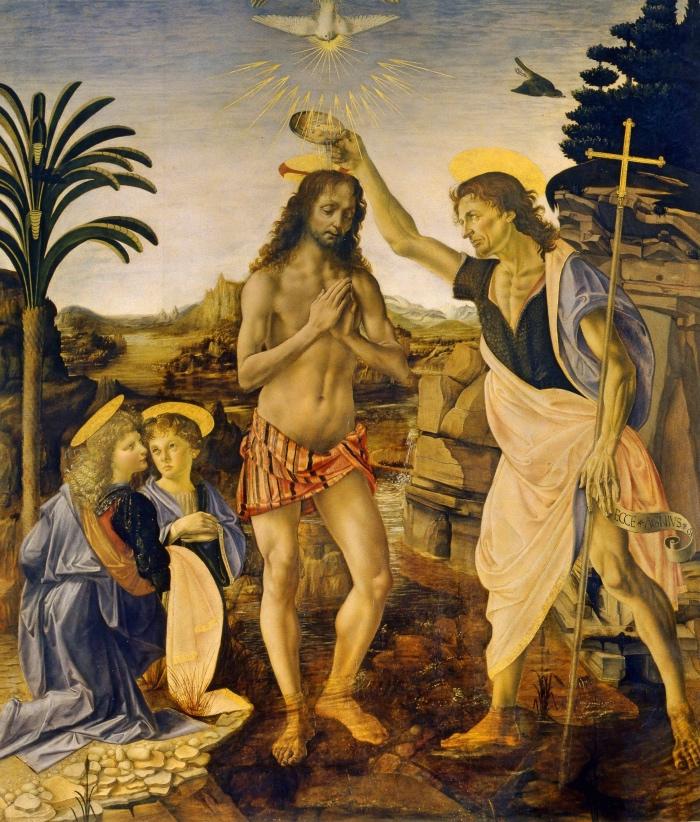Verrocchio e Leonardo, Battesimo di Cristo