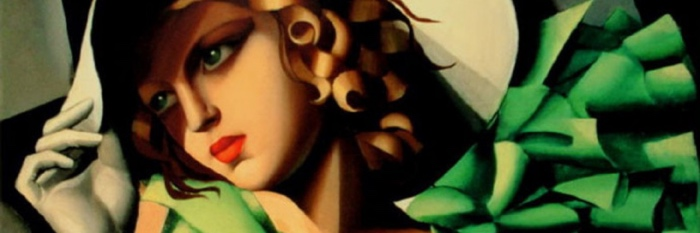 Portrait of a Young Girl in a Green Dress | Tamara de Lempicka