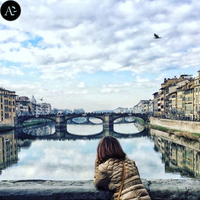 Arno da Ponte Vecchio a Firenze