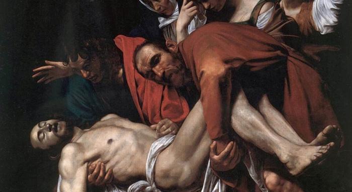 Caravaggio, Deposizione di Cristo. Image source: followmeroma.com