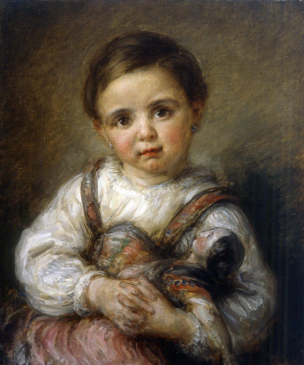 Giovanni Carnovali detto il Piccio, Bambina con bambola