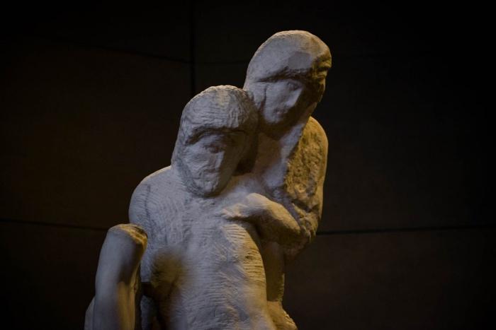 scultura museo Pietà Rondanini_Fotor