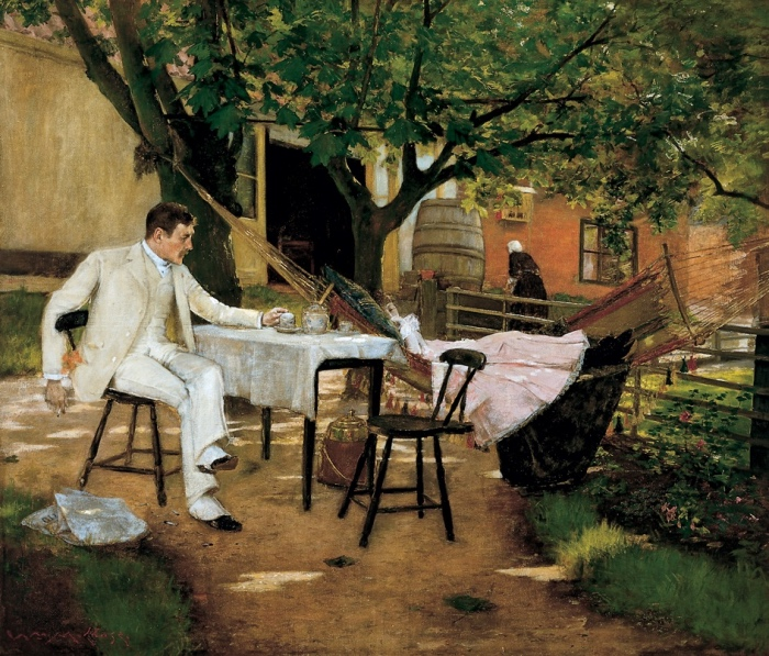 WILLIAM MERRITT CHASE | The Open Air Breakfast