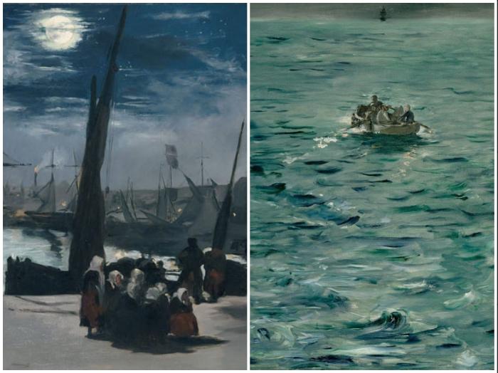 Manet | Chiaro di luna sul porto di Boulogne | La Fuga di Rochefort