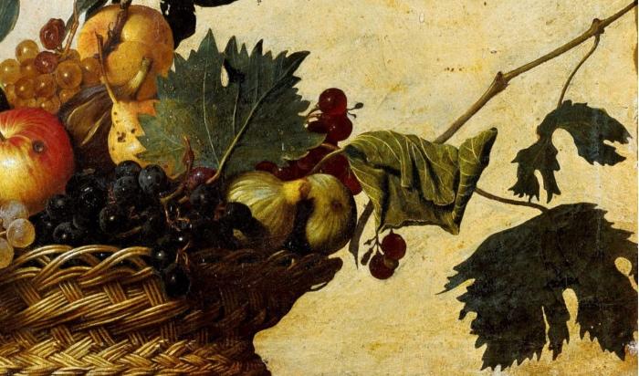 Natura Morta Caravaggio E La Canestra Di Frutta