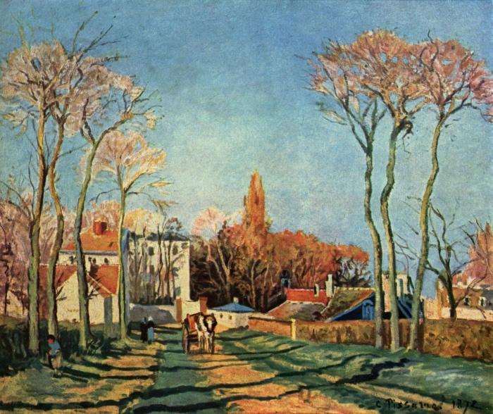 Camille Pissarro | Entrata del villaggio di Voisins
