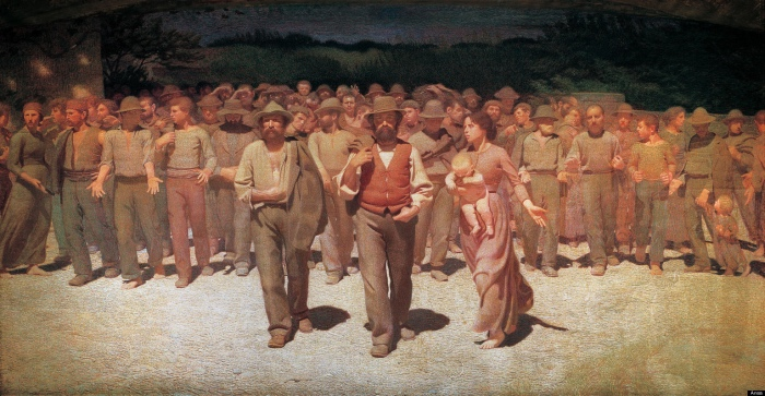 The Fourth Estate | Giuseppe Pellizza da Volpedo