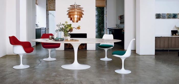 Tavoli da pranzo: il tavolo Tulip come icona del design
