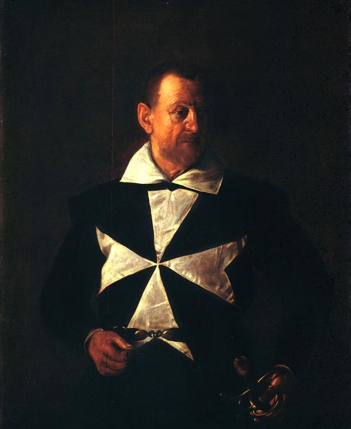 Ritratto di un cavaliere di Malta | Caravaggio Ritratto di un cavaliere di Malta, 1608 Olio su tela, 118,5 x 95 cm Galleria Palatina di Palazzo Pitti, Firenze Gabinetto Fotografico delle Gallerie degli Uffizi