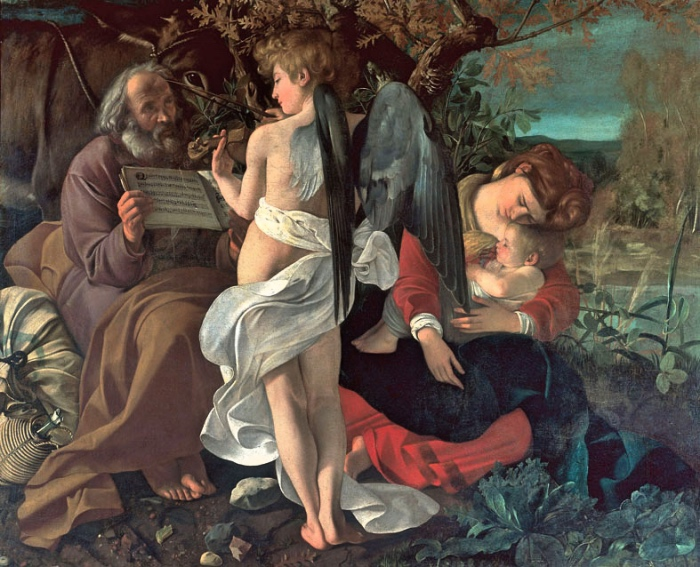 Rest on the Flight into Egypt | Caravaggio
