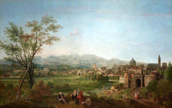 Francesco Zuccarelli | Andrea Palladio invita a visitare Vicenza