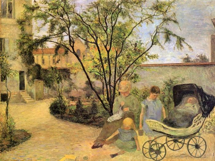 Paul Gauguin | La famiglia del pittore nel giardino