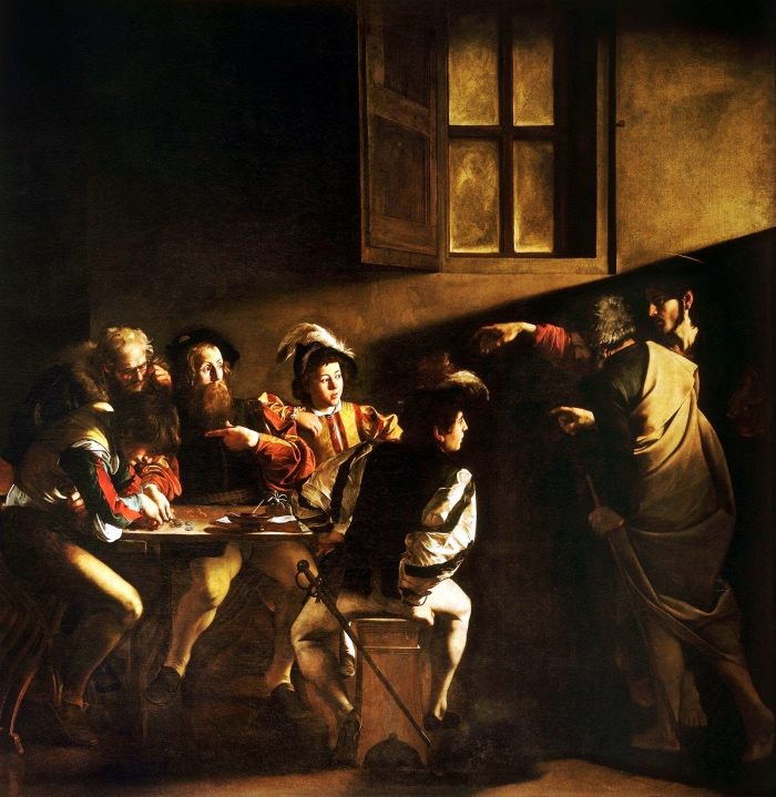 Inspiration of Saint Matthew | Caravaggio