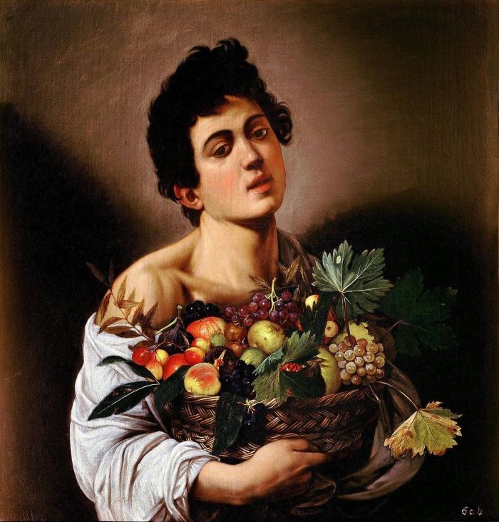 Caravaggio | fanciullo con canestro di frutta