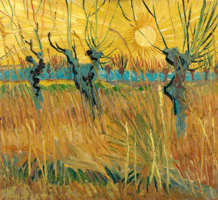 Vincent van Gogh | Pollard willows at sunset