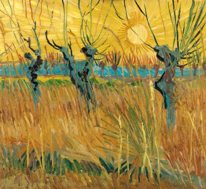 Vincent van Gogh | Gelsi potati al tramonto