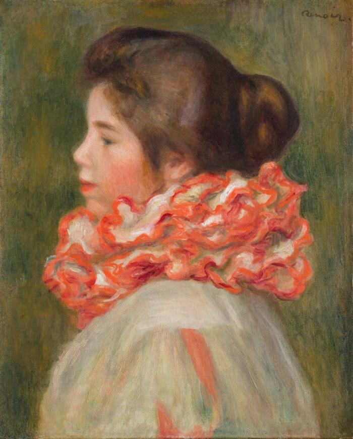 Pierre-Auguste Renoir | Girl in a Red Ruff