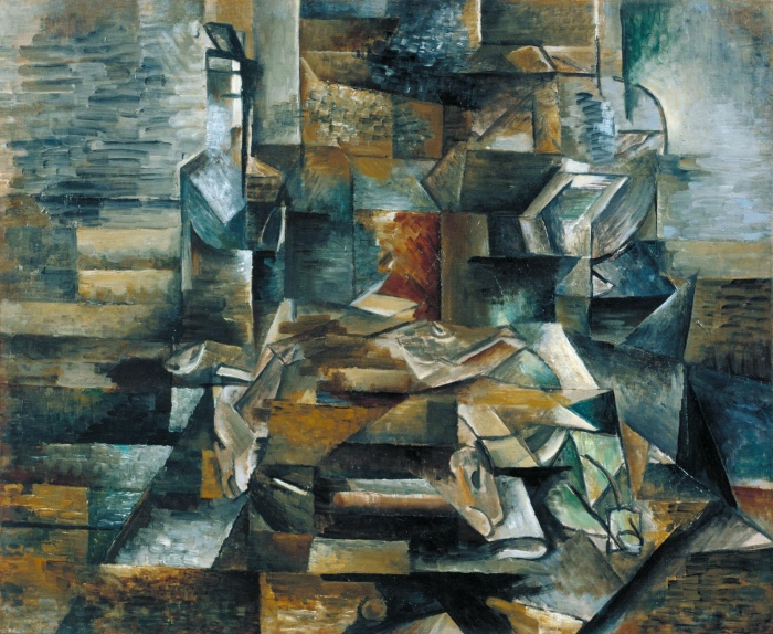 Georges Braque | Bottiglia e pesci