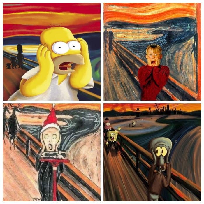 Urlo di Munch | rivisitazioni