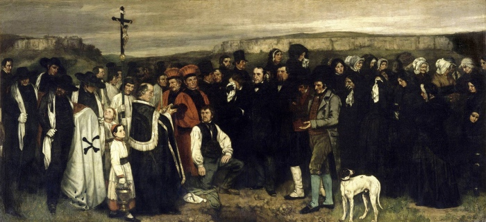 Gustave Courbet | funerale a Ornans