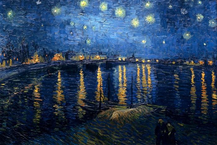 opere Van Gogh | Notte stellata sul Rodano