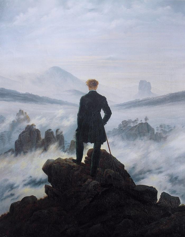 Caspar David Friedrich | Viandante sul mare di nebbia